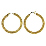 Hoop Earrings in Gold from the Destiny Collection