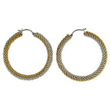 Hoop Earrings in Gold + Silver from the Destiny Collection