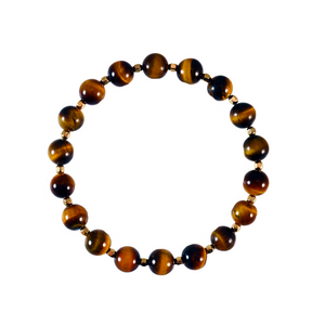 Gold + Tiger's Eye Elements Bracelet