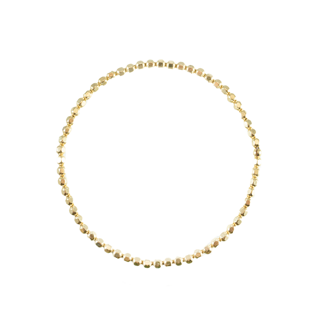 Hammered Gold Benefit Bracelet
