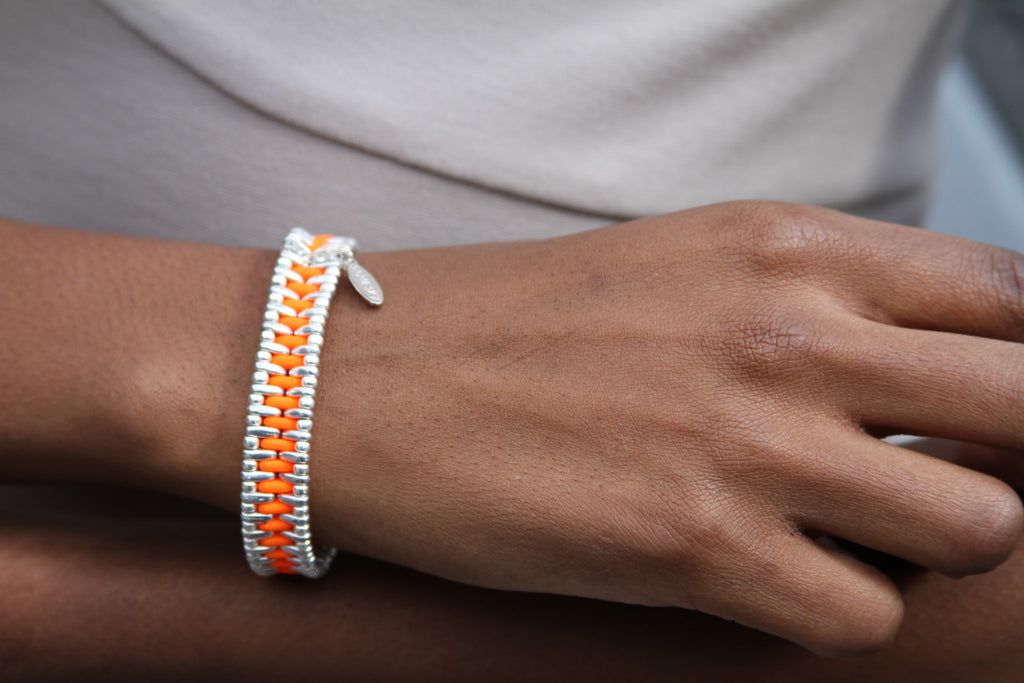 the END VIOLENCE Bracelet on model