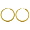 Ultimate Destiny Metallic Hoop Earrings in Gold