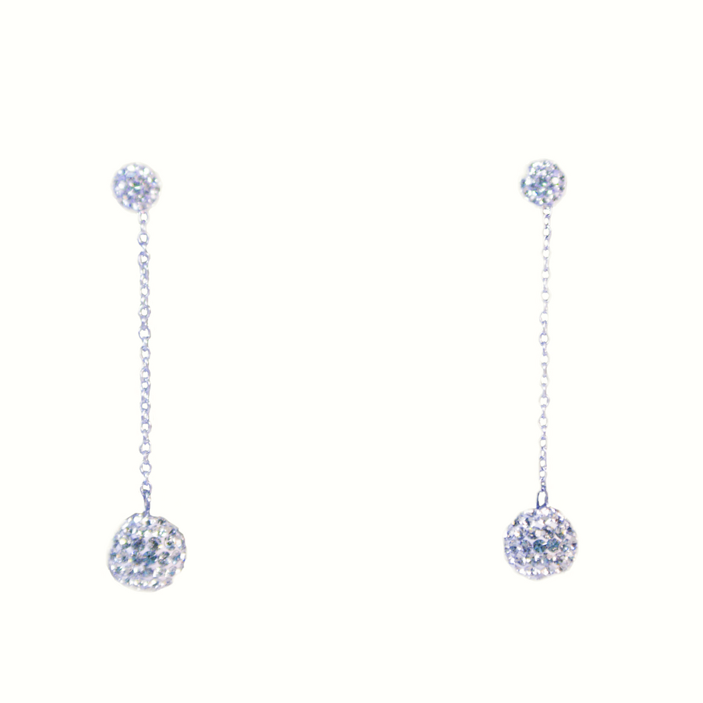 Single-drop Pavé Earrings