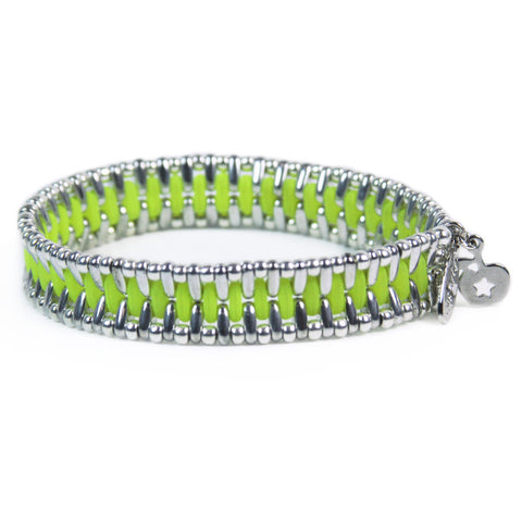 Chrome Metallic Evil Eye Sky Bracelet