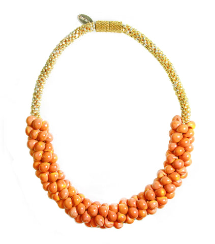 Golden Pumpkin Sky Necklace