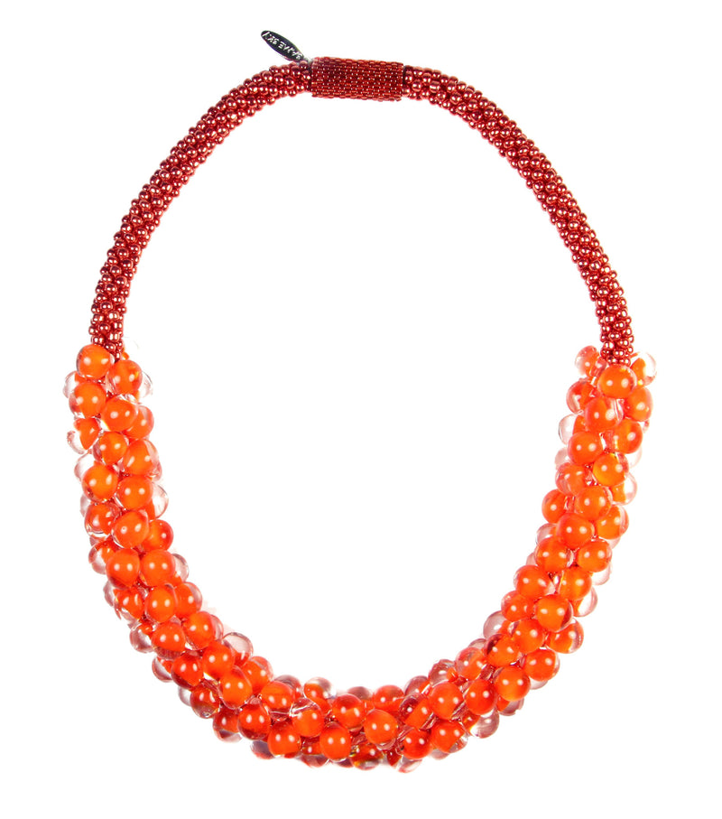 Vivid Sky Necklace in Mandarin from the Sky Collection