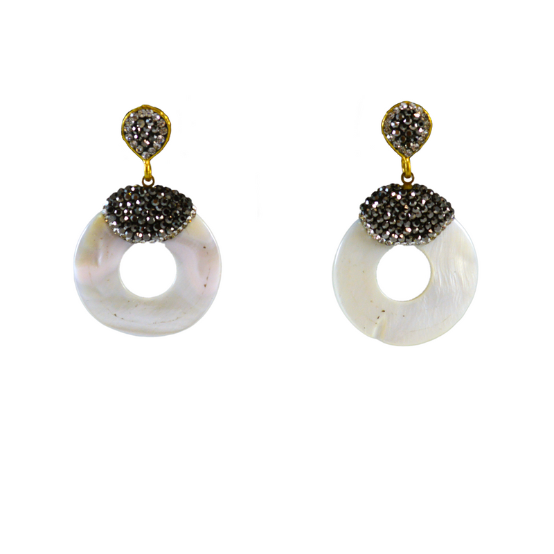 Disco Pearl Earrings