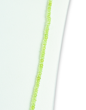 Peridot Brilliant Gemstone Necklace