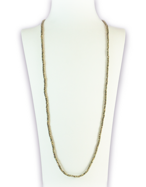 Pyrite Luminous Gemstone Necklace