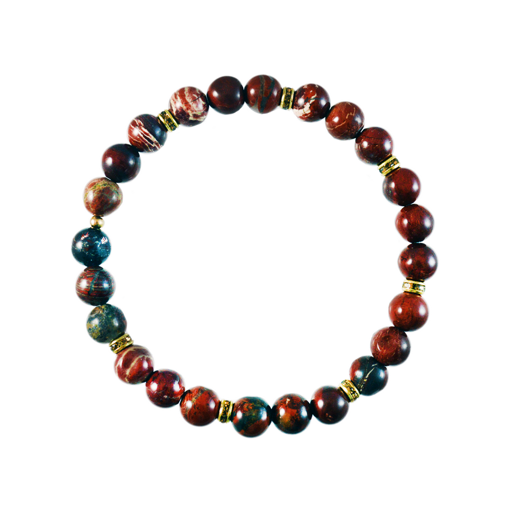 Red Agate Elements Bracelet