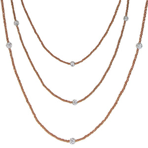Classic Rose Gold Necklace from the Black Tie Collection