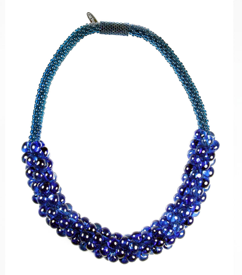 Vivid Sky Necklace in Cobalt from the Sky Collection