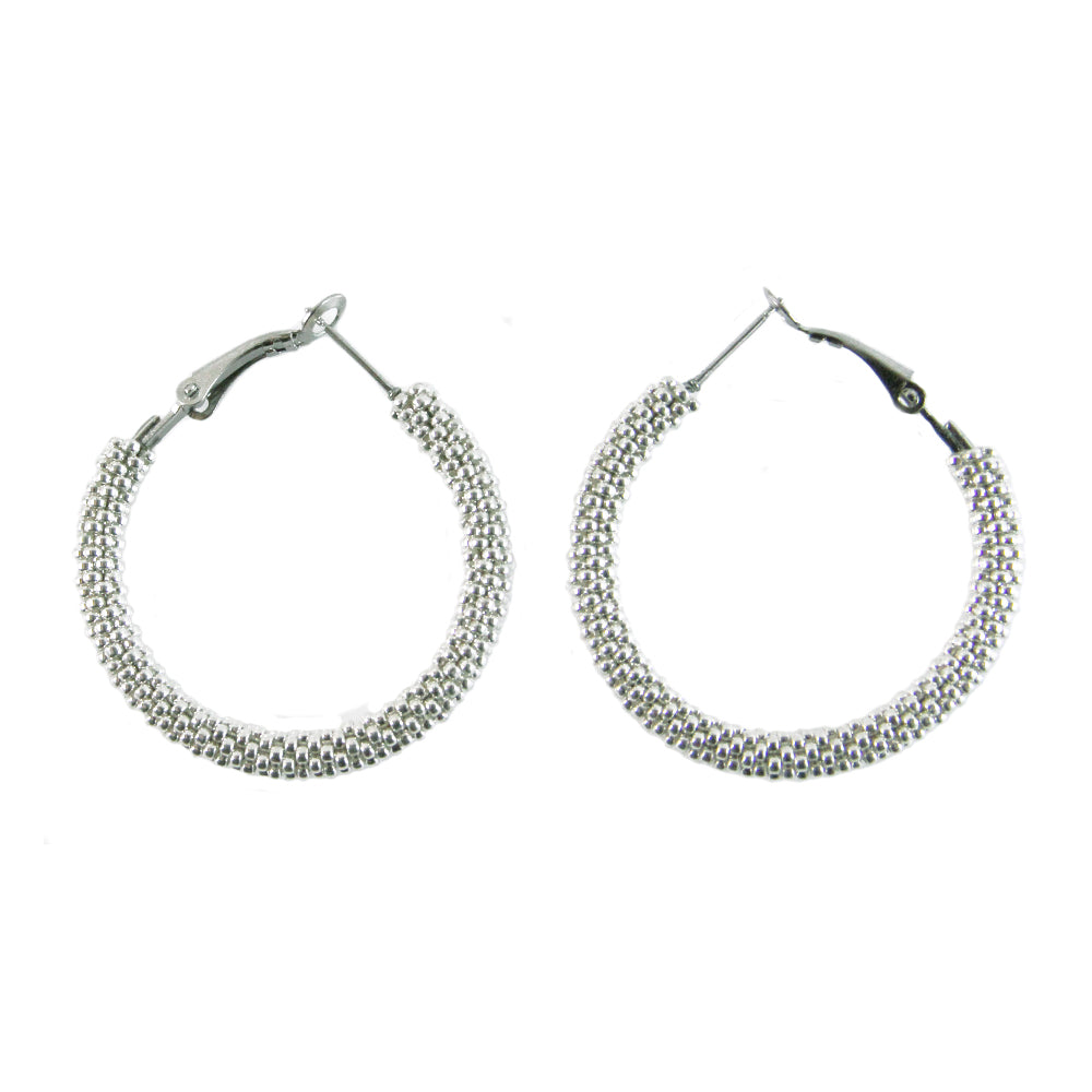 Destiny Silver Hoop Earrings