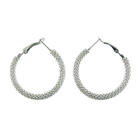 Gold + Silver Destiny Hoop Earrings