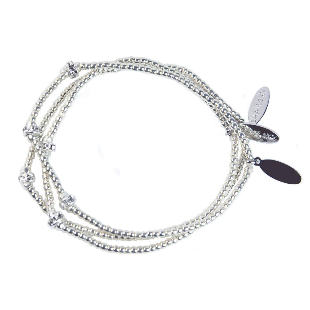 Rondel Benefit Bracelet Set in Silver Rondel from the Benefit Collection