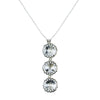 Swarovski Crystal Trio Pendant Necklace