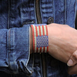 Stars and Stripes Cuff Bracelet