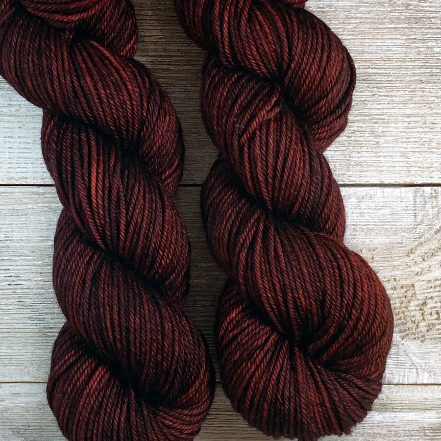 ww kashmir Burgundy Bean, worsted weight merino and cashmere yarn