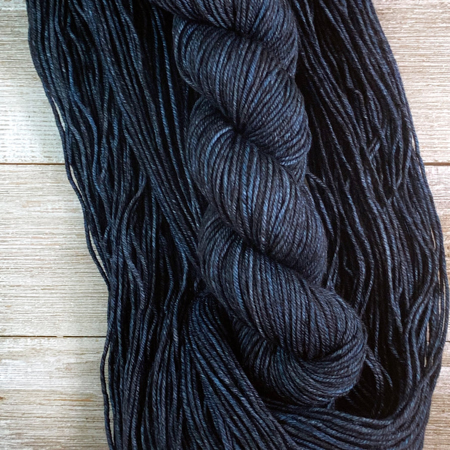 ww kashmir Forever In Blue Jeans, worsted weight merino and cashmere yarn
