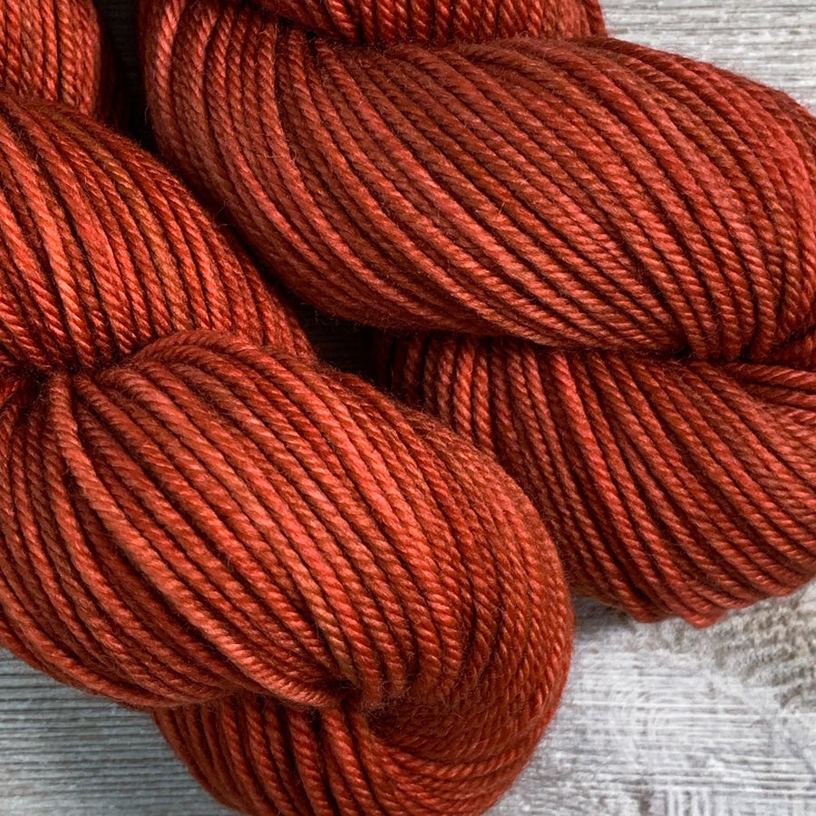 ww kashmir Red Hot Chili Pepper, worsted weight merino and cashmere yarn