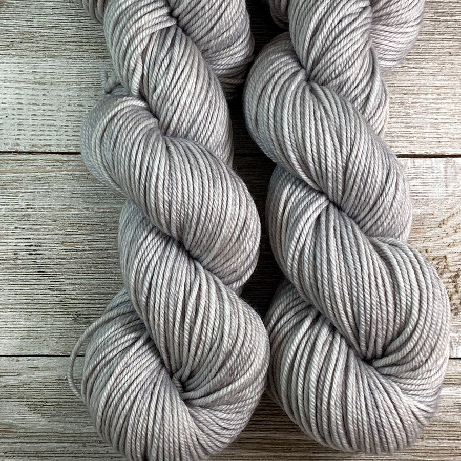 ww kashmir Platinum, hand-dyed worsted weight merino and cashmere yarn