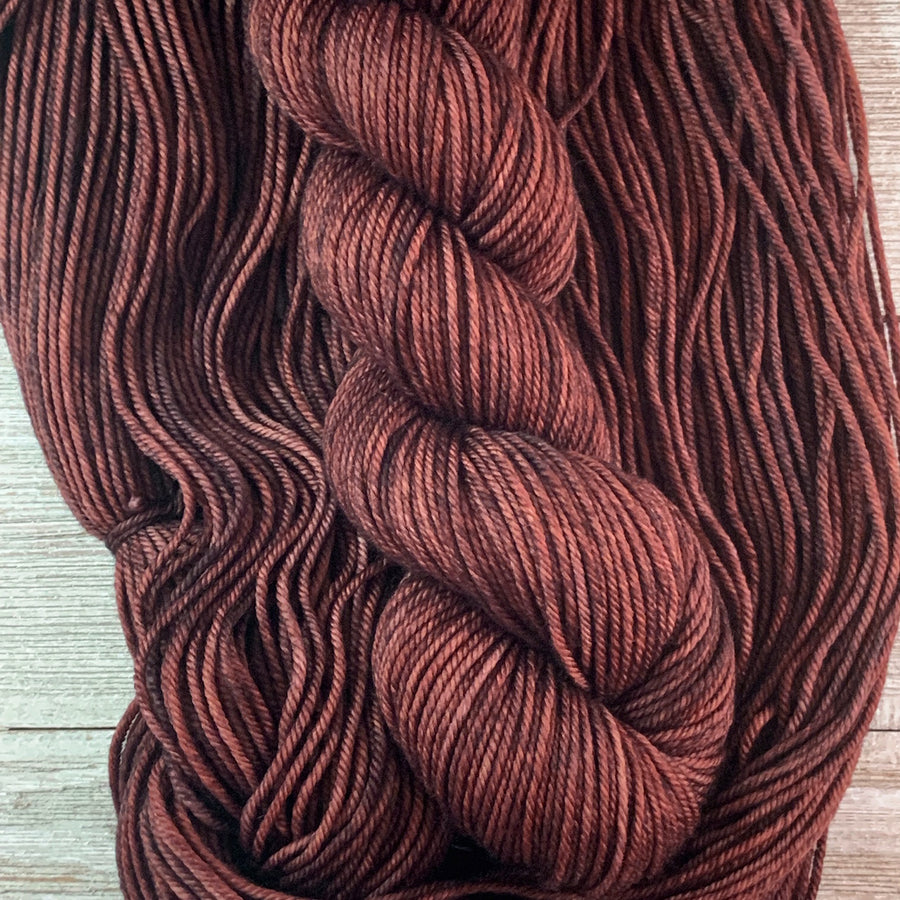 ww kashmir Truffle, hand-dyed worsted weight merino and cashmere yarn
