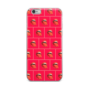 Kiss Warhol iPhone Case