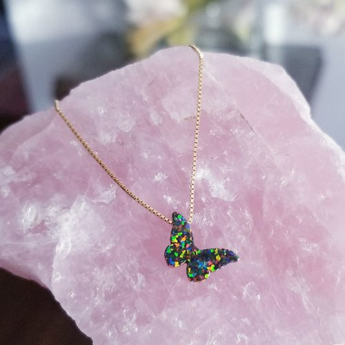 The Opal Butterfly Necklace