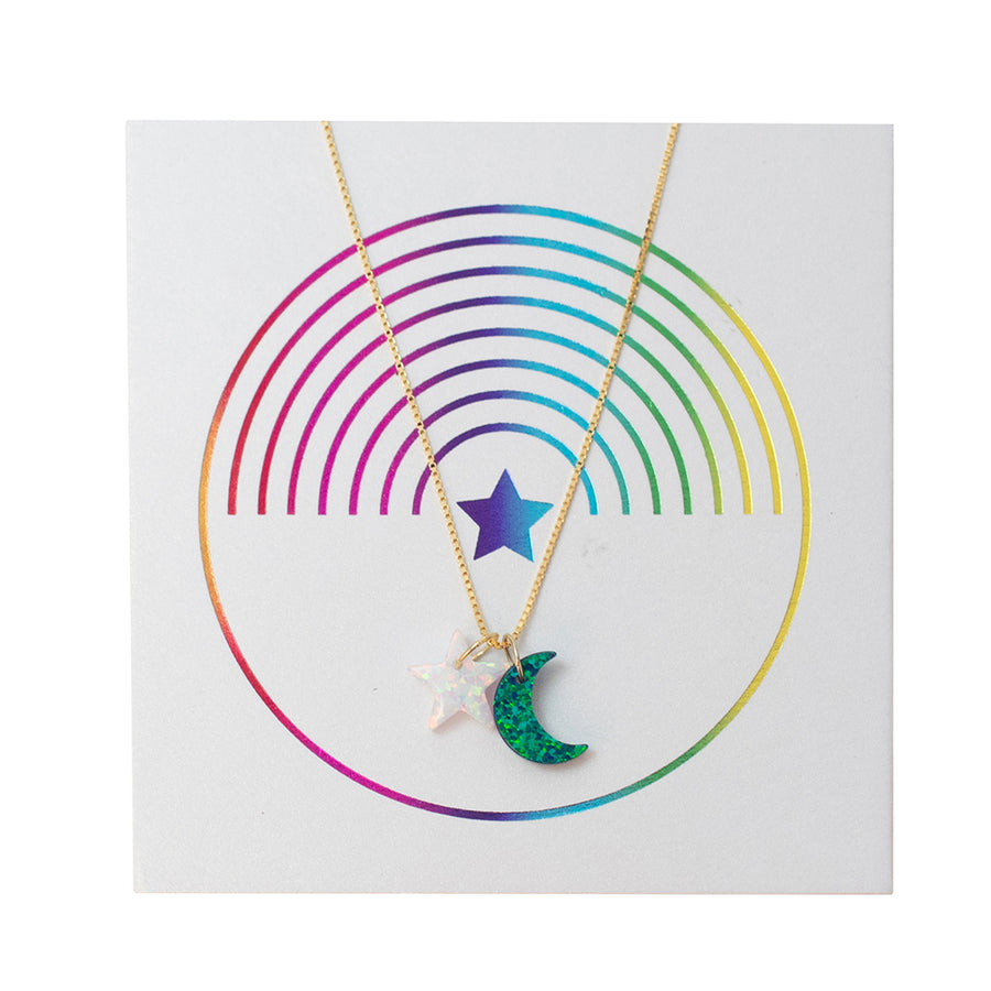 The Star & Void Moon Necklace
