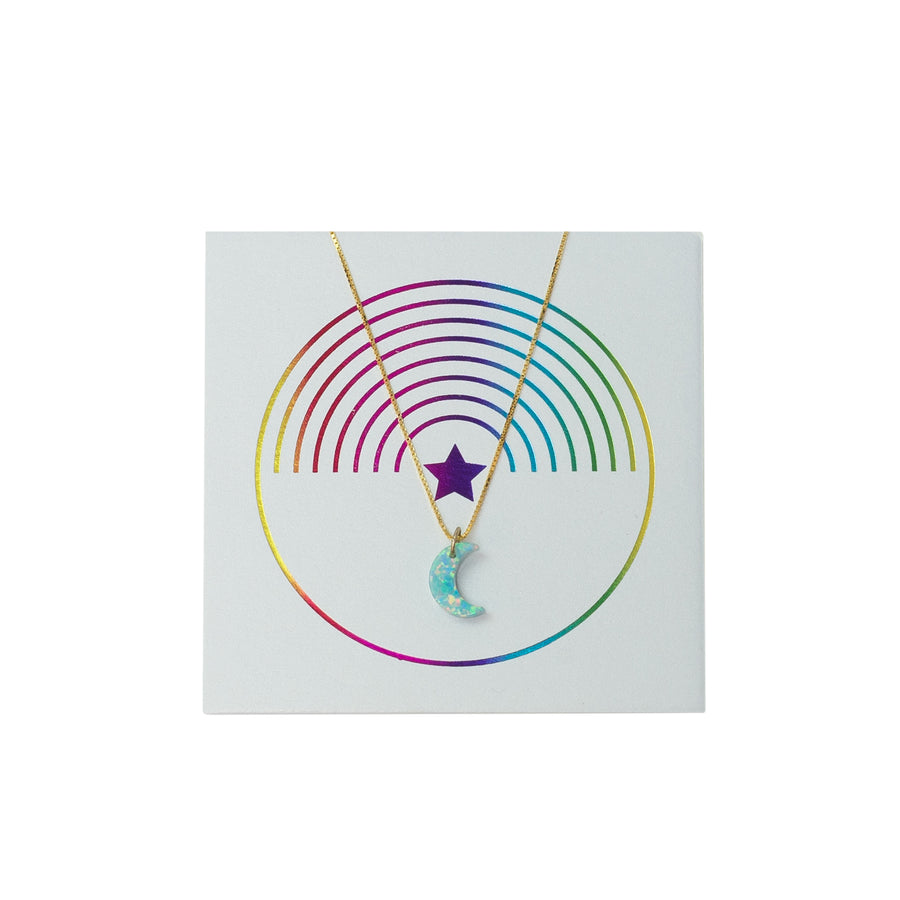 The Opal New Moon Necklace