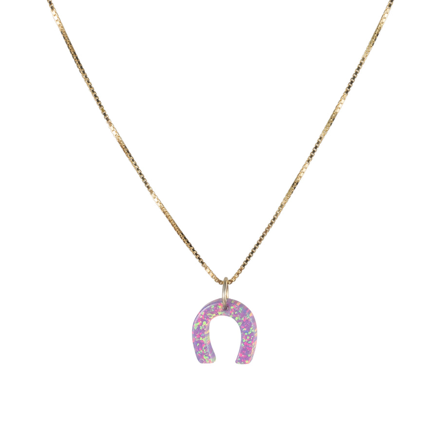 The Opal Horseshoe Necklace