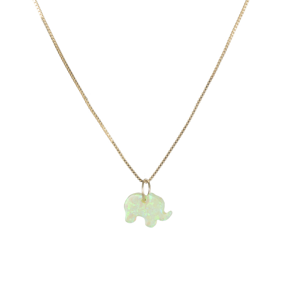 The Opal Elephant Necklace