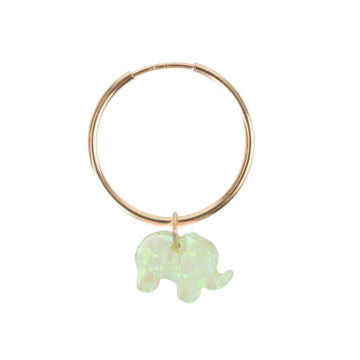 The Opal Elephant Earring