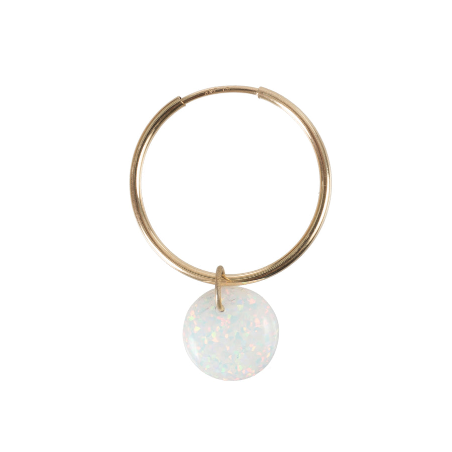 The Opal Full Moon Earring
