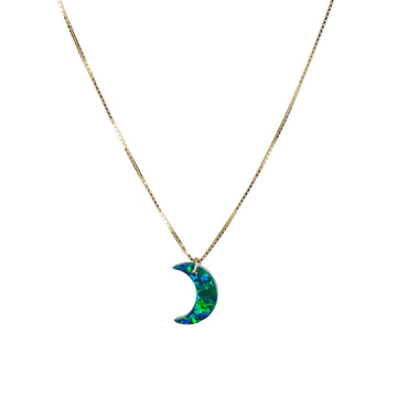 The Opal Void Moon Necklace