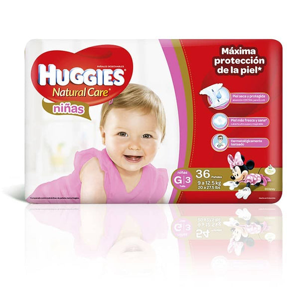 Pañal Huggies Natural Care Niña G - 36 und