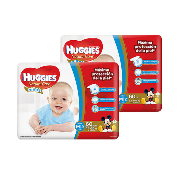 SALE Pañal Huggies Natural Care Niño M - 120 und