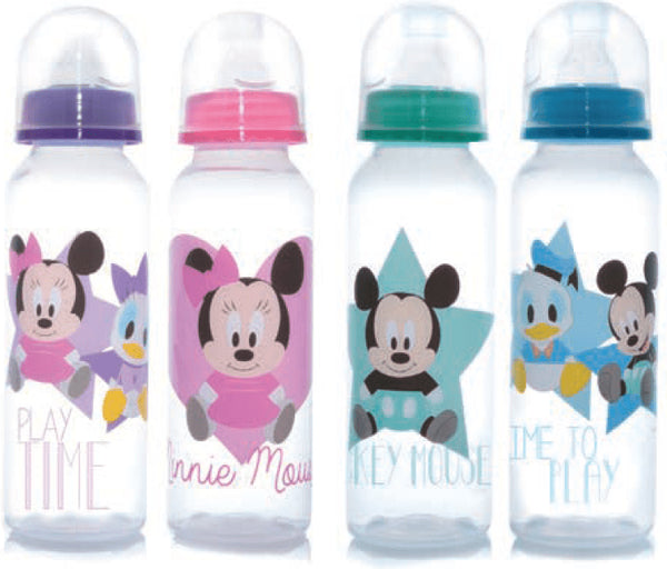 Biberon boca standard Mickey Minnie Disney baby Colores - 8 onz