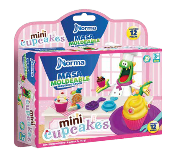 Kit Masa Moldeable Mini Cupcakes