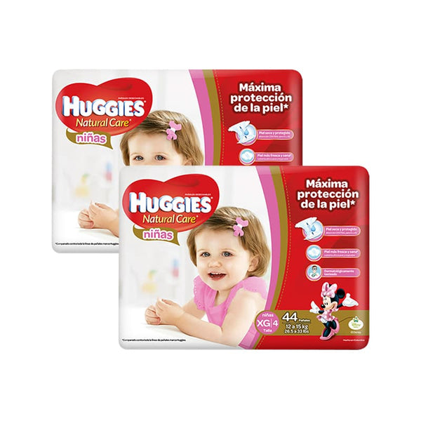 SALE Pañal Huggies Natural Care Niña XG - 88 und