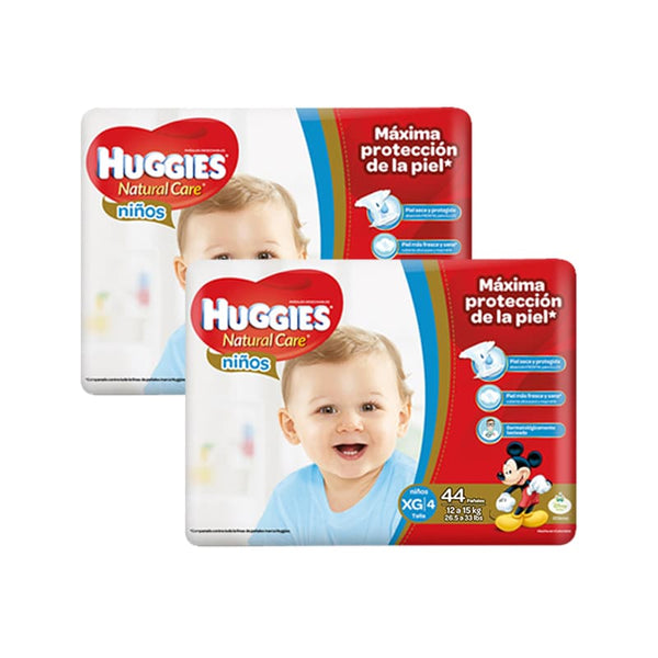 SALE Pañal Huggies Natural Care Niño XG - 88 und