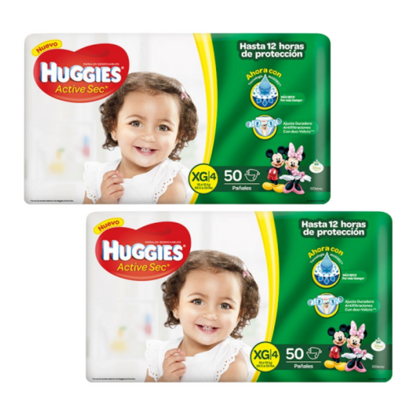 SALE Huggies Active Sec XG - 100 und