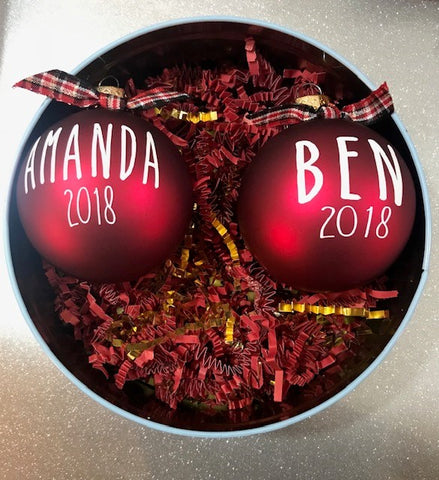 Personalized Glass  Ornaments - Callie's Creations