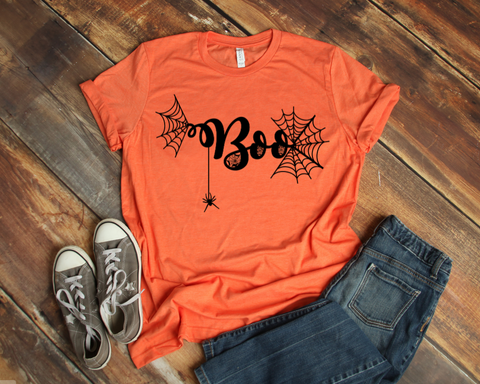 Boo Spider Web Shirt - Callie's Creations