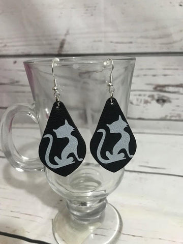 Cat Silhouette Earrings - Callie's Creations