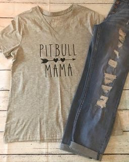 Pit Bull Mama Shirt - Callie's Creations