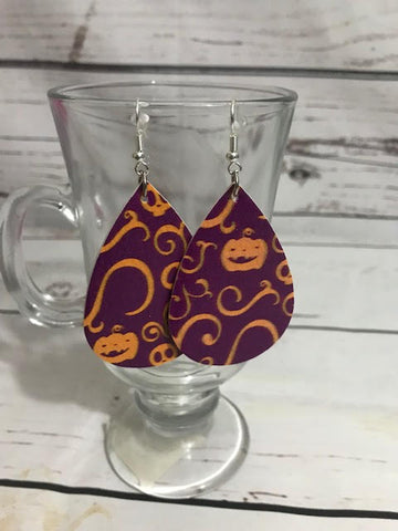 Pumpkin Party Earrings - Callie's Creations