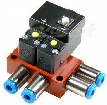 Orbit pneumatic dual action gear valve