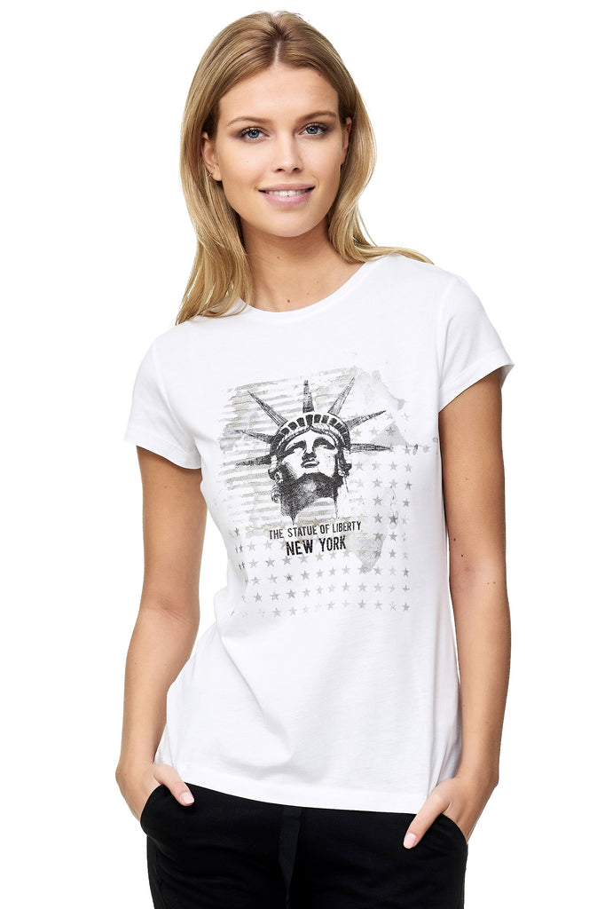 Decay T-Shirt mit Statue of Liberty - Aufdruck.