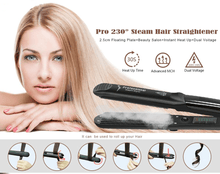 Load image into Gallery viewer, Professional Steam Hair Straightener - galaxiyan